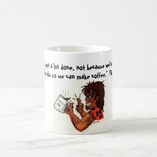 Hombre de las cavernas del café taza de café