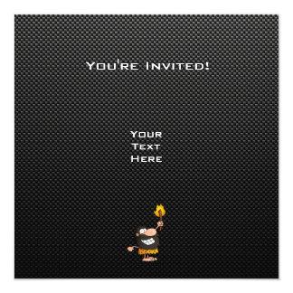 Hombre de las cavernas; Liso Invitaciones Personalizada