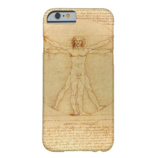 Hombre de Leonardo da Vinci Vitruvian Funda Para iPhone 6 Barely There