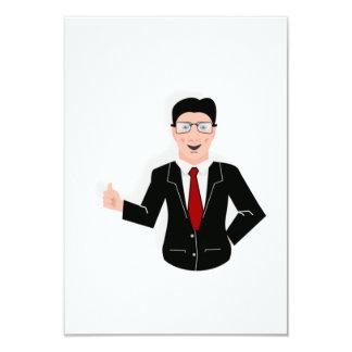 Hombre de negocios invitaciones personalizada