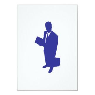 Hombre de negocios invitación 8,9 x 12,7 cm