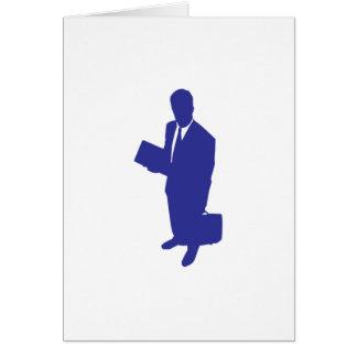 Hombre de negocios tarjeta pequeña