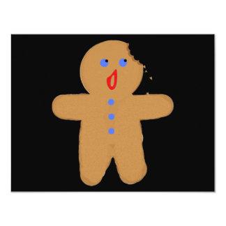 Hombre de pan de jengibre con la cruce de invitación 10,8 x 13,9 cm
