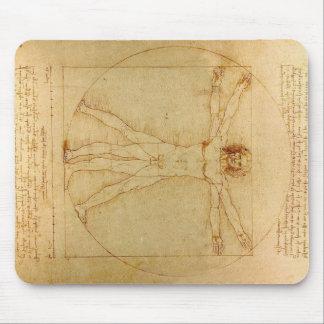 Hombre de Vitruvian de da Vinci Alfombrilla De Ratón