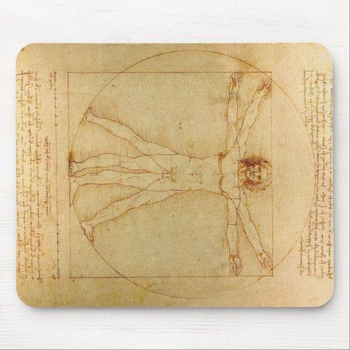 Hombre de Vitruvian de da Vinci Alfombrillas De Raton