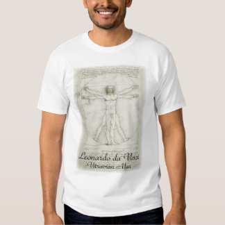 Hombre de Vitruvian de Leonardo da Vinci Camiseta