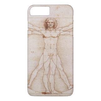 Hombre de Vitruvian detalladamente por Leonardo da Funda Para iPhone 8 Plus/7 Plus