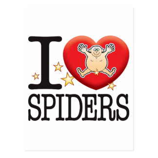 Hombre del amor de las arañas postal