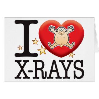 Hombre del amor de las radiografías tarjeta de felicitación