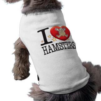 Hombre del amor de los hámsteres camiseta sin mangas para perro