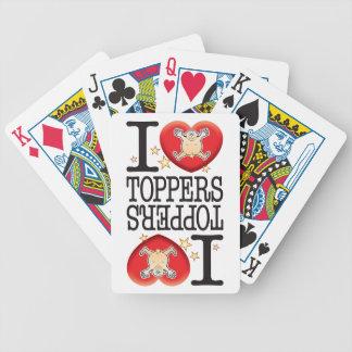 Hombre del amor de los primeros barajas de cartas