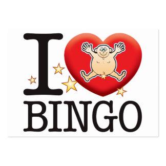 Hombre del amor del bingo tarjetas de visita grandes