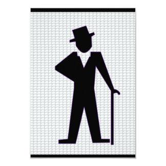 Hombre del baile invitación 8,9 x 12,7 cm