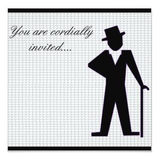 Hombre del baile invitación 13,3 cm x 13,3cm