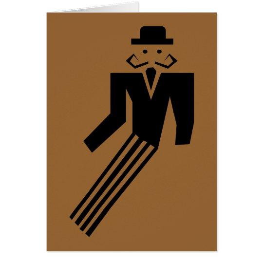 Hombre del bigote - art déco tarjeta pequeña