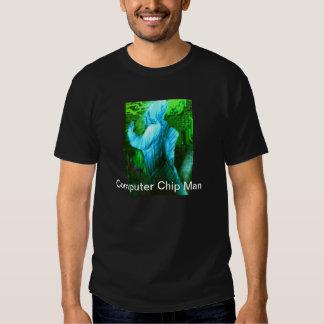 Hombre del chip de ordenador camisetas