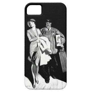 Hombre del equipaje de la maleta del Bellhop de la Funda Para iPhone SE/5/5s