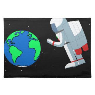 Hombre del espacio salvamanteles