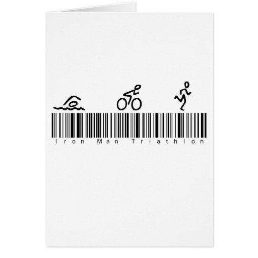 Hombre del hierro de la clave de barras tri tarjetas