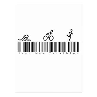 Hombre del hierro de la clave de barras tri tarjeta postal