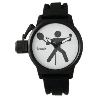 Hombre del icono del TENIS el | con la estafa y la Reloj De Pulsera