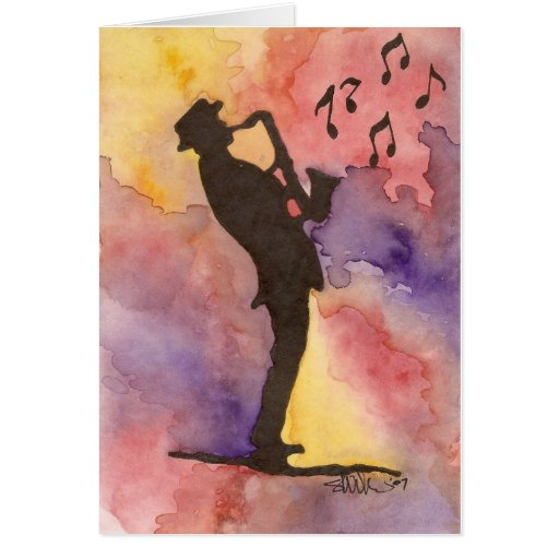 Hombre del jazz tarjeta