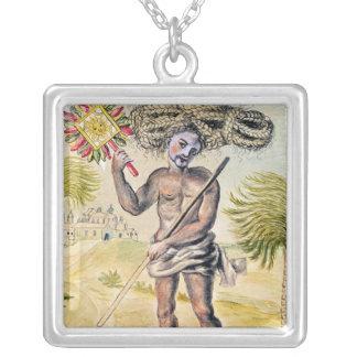 Hombre del Penitent en la India Collar Plateado