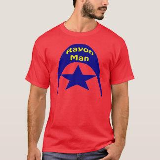 Hombre del rayón camiseta