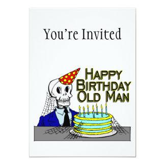 Hombre del Web de araña del feliz cumpleaños viejo Invitación 12,7 X 17,8 Cm