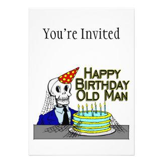 Hombre del Web de araña del feliz cumpleaños viejo Comunicados