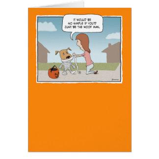 Hombre divertido del tejido de Halloween Tarjeta De Felicitación