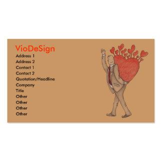 Hombre en amor plantillas de tarjetas personales