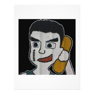 Hombre en el teléfono tarjetas publicitarias