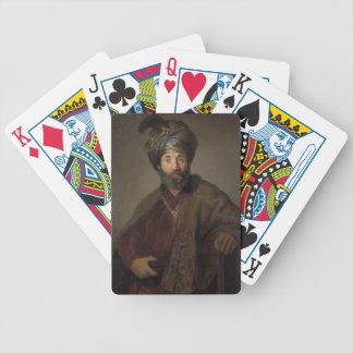 Hombre en el traje oriental, c.1635 (aceite en lon baraja de cartas bicycle
