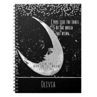 Hombre en la luna, fotografía cuaderno