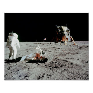Hombre en la luna póster