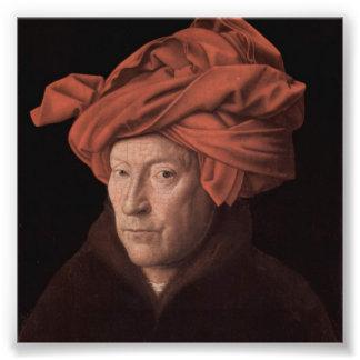 Hombre en un turbante arte con fotos