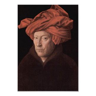 Hombre en un turbante invitación 8,9 x 12,7 cm