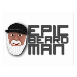 Hombre épico de la barba postal