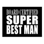 Hombre estupendo certificado tablero del favor de