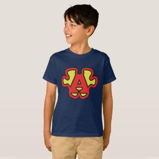 Hombre estupendo del logotipo del rompecabezas de camiseta
