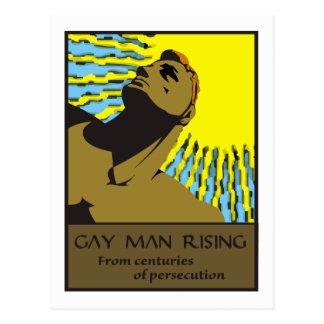 Hombre gay 2 de levantamiento postal