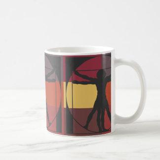Hombre geométrico de Vitruvian Taza De Café