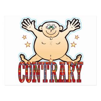 Hombre gordo contrario postal