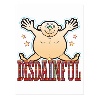Hombre gordo desdeñoso postal