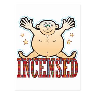 Hombre gordo Incensed Postal