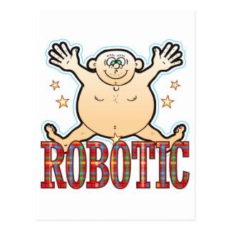 Hombre gordo robótico postal