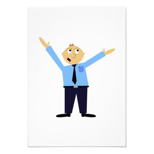 Hombre gritador trastornado invitación personalizada
