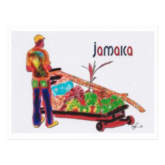 Hombre Jamaica del bastón Postal