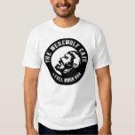 Hombre lobo Café (frente del logotipo) Camiseta